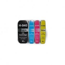 4 CARTUCCE COMPATIBILI HP 940 XL 1 PER COLORE