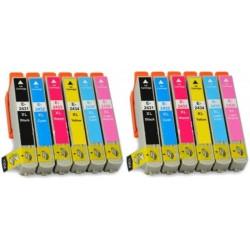 12 CARTUCCE COMPATIBILI EPSON T2431 T2438 XL 2 PER COLORE NO OEM
