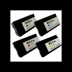 4 CARTUCCE COMPATIBILI HP 950 XL 951 XL 1 PER COLORE