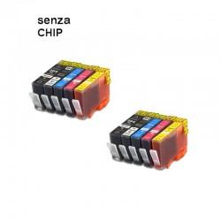 10 CARTUCCE COMPATIBILI HP 364 XL 2 PER COLORE SENZA CHIP