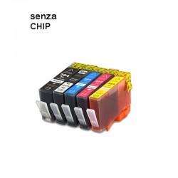 5 CARTUCCE COMPATIBILI HP 364 XL 1 PER COLORE SENZA CHIP