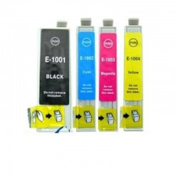 4 CARTUCCE COMPATIBILI EPSON T1001 T1006 1 PER COLORE NO OEM