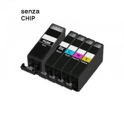 5 CARTUCCE COMPATIBILI CANON PGI-520 CLI-521 SENZA CHIP