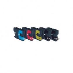 5 CARTUCCE COMPATIBILI BROTHER LC-1000 2 NERE + 1 PER COLORE MULTIPACK